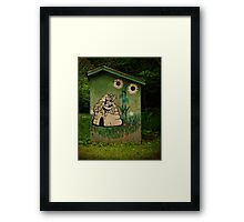Beekeepers Outhouse Framed Print