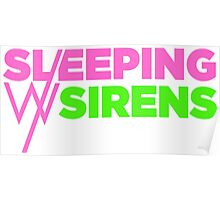 Sleeping with sirens music, band pink logo Poster