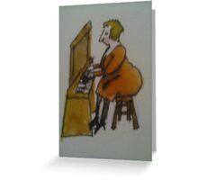 bird on organ Greeting Card