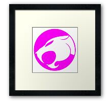 THUNDERCATS HOT PINK Framed Print