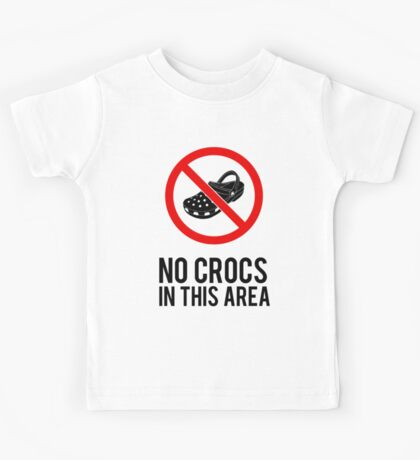 NO CROCS V.1 Kids Tee