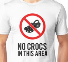 NO CROCS V.1 Unisex T-Shirt