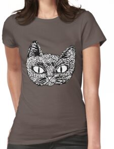 Ink Cat Womens Fitted T-Shirt