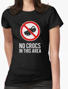 NO CROCS V.2 Womens Fitted T-Shirt