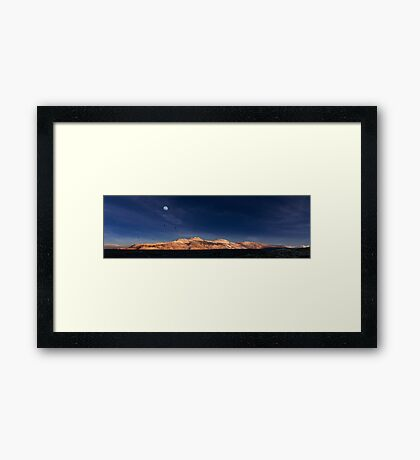 Moon Over Mono–Inyo Craters. Framed Print