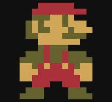 8 bit Mario V.2 One Piece - Short Sleeve