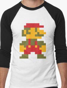 8 bit Mario V.2 Men's Baseball ¾ T-Shirt