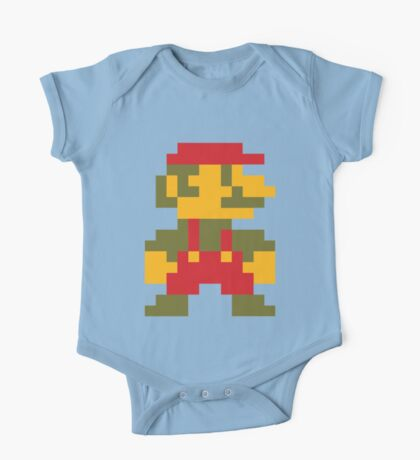 8 bit Mario V.2 One Piece - Short Sleeve