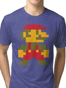 8 bit Mario V.2 Tri-blend T-Shirt