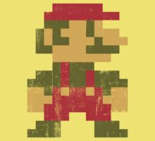 8 bit Mario V.1 One Piece - Short Sleeve