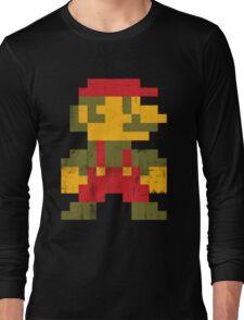 8 bit Mario V.1 Long Sleeve T-Shirt