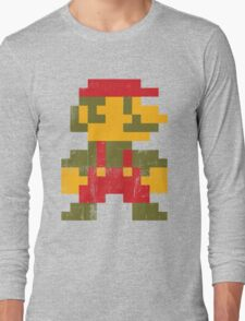 8 bit Mario V.1 Long Sleeve T-Shirt