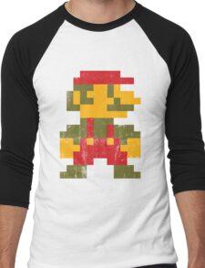 8 bit Mario V.1 Men's Baseball ¾ T-Shirt