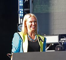 Anneka Rice  at Queen Elizabeth Olympic Park by Keith Larby