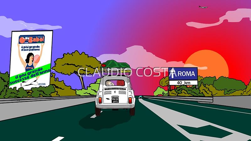 I TEMPI DELLE VACCHE GRASSE (Sunset) by CLAUDIO COSTA