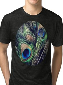 Peacock Feather's Color Tri-blend T-Shirt