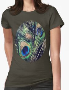 Peacock Feather's Color Womens Fitted T-Shirt