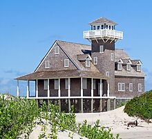 Oregon Inlet Life Saving Station by Kenneth Keifer