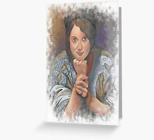 Missing You German Woman In Traditional Dress  Greeting Card