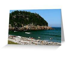Swim at Black Beach ! Greeting Card