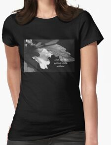 Look for the Beauty in All Things Womens Fitted T-Shirt