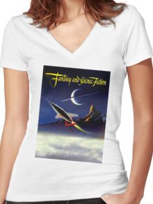 Fantasy & Science Fiction Fan Women's Fitted V-Neck T-Shirt
