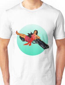 Swinging Sixties Girl on Gun Unisex T-Shirt