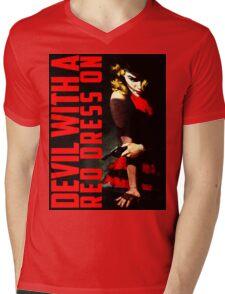 Devil with a Red Dress On Mens V-Neck T-Shirt