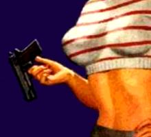 Classic Girls With Guns Sticker