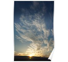 Sunset at Sagecliffe, Washington State Poster