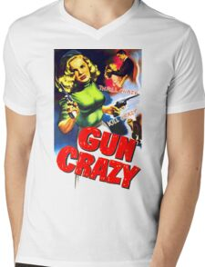 Gun Crazy Mens V-Neck T-Shirt