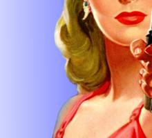Red Hot Girl with Gun Sticker