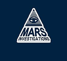 Mars Investigation - Original Logo - All Blue by emmaswan