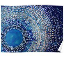 Blue Kachina original painting Poster