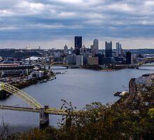 Pittsburgh Skyline showing Heinz Field by Michelle Joseph-Long