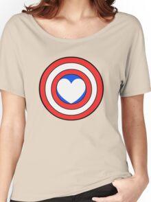 Captain Looooooove Women's Relaxed Fit T-Shirt