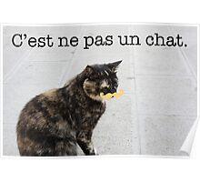 C'est ne pas un chat. Poster