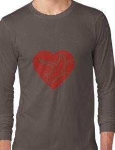 Dinosaur heart: Triceratops (Red on white) T-Shirt