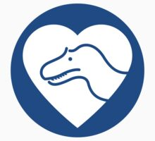 Dinosaur heart: Torvosaurus sticker by David Orr