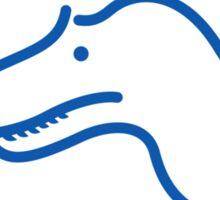 Dinosaur heart: Torvosaurus sticker Sticker