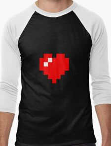 Pixel Heart Men's Baseball ¾ T-Shirt