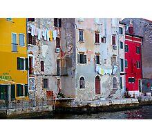 The Essence of Croatia - Pastel Houses of Rovinj Photographic Print