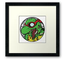 Zombie Raphael Framed Print