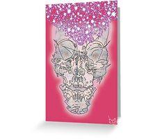 Man Skull Ray Greeting Card