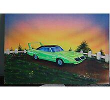 Mopar superbird - 70's muscle car Photographic Print