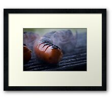 grilled sausages Framed Print