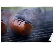 grilled sausages Poster