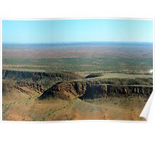Aerial View Before Alice Springs Poster