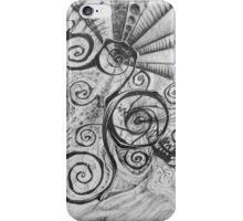 Black curl by artist BoLoS iPhone Case/Skin
