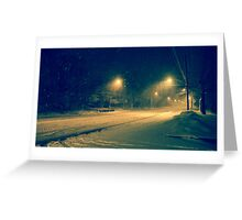 Winter Tempest Greeting Card
